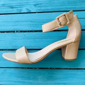 White Mountain Block Heel Sandals